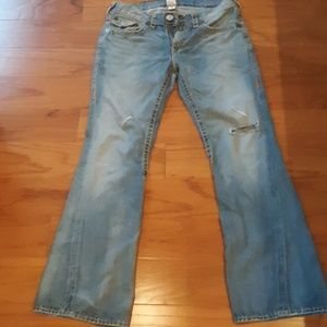 True Religion World Tour JOEY SUPER T Flare Jeans